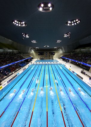 Olympic swimming venue, London