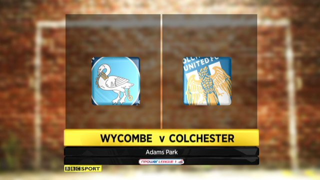 Wycombe 0-0 Colchester