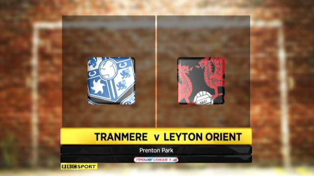Highlights: Tranmere 2-0 Leyton Orient