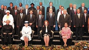 The Queen at last year's Commonwealth heads of government in Australia