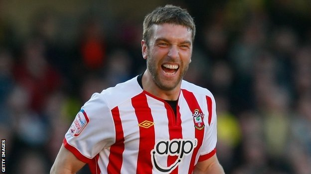 Rickie Lambert in action for Southampton