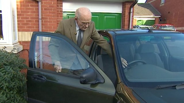 Donald Orchard, 91, passed his test in 1937