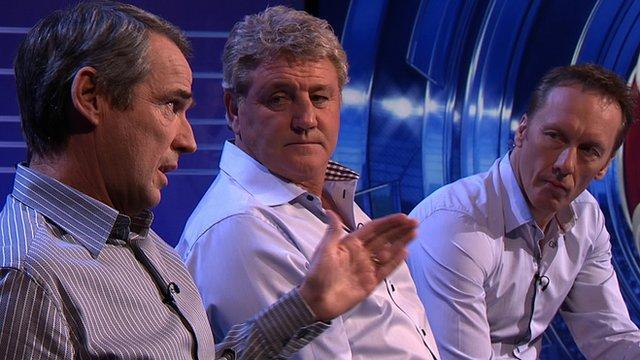 Alan Hansen, Steve Bruce, Lee Dixon