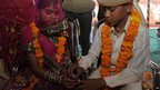 Engagement ceremony in the village of Vadia, Gujarat state - 11 March 2012