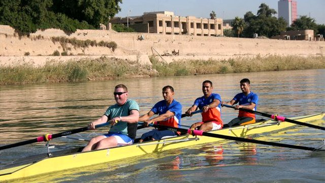 Matthew Pinsent and Iraq's Olympic rowing team