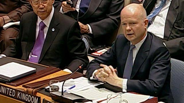 William Hague (right)