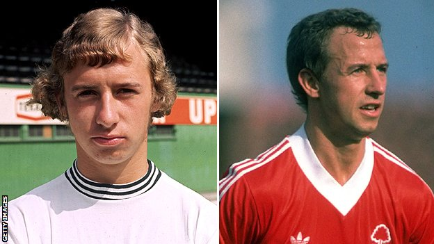 John McGovern during his time at Derby and Forest