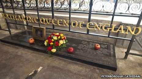 Katharine of Aragon's tomb, Peterborough Cathedral 2012