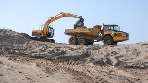 Diggers in the sand
