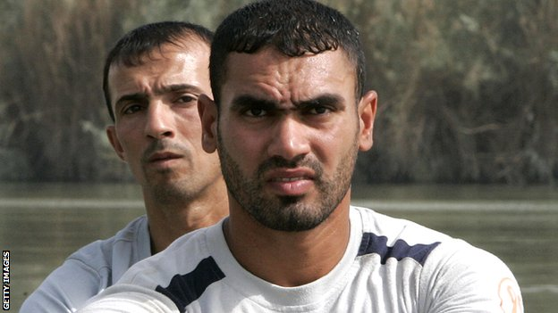 Haider Rashid and Hamza Hussein, Iraq's Olympic rowers
