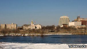Panorama of downtown Trenton