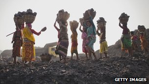 Women coal mining in India