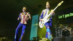 Los Tigres del Norte for Latin Music USA on BBC Four in Autumn 2009
