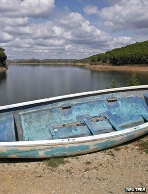 Depleted reservoir, Portugal (Image: Reuters)
