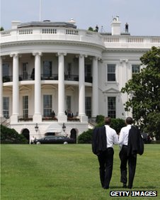 David Cameron and Barack Obama outside the White House in July 2010