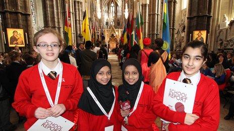 Amber, Hana, Amaani, Fatima of Ponteland Middle School