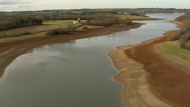 reservoir with low water levels