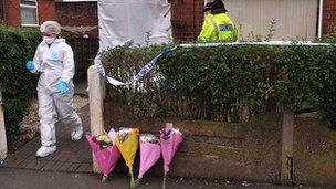 The scene on Mellor Street in Droylsden