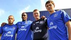 John Heitinga, Sylvain Distin, David Moyes and Diniyar Bilyaletdinov