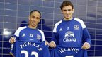 Steven Pienaar and Nikica Jelavic