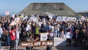 Campaigners protesting against the plans
