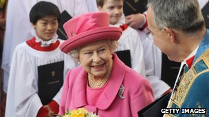 Queen at Westminster Abbey for Commonwealth Day