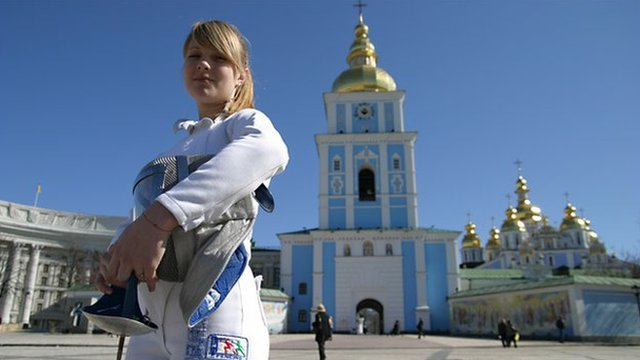 Ukrainian fencer and Olympic champion Olga Kharlan
