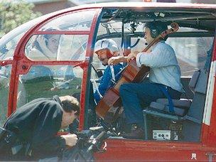Helicopter quartet in rehearsal for Mittwoch aus Licht. Photo: Stockhausen Stiftung for Music