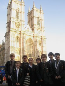School Reporters from St Bendict's School in London at the Abbey
