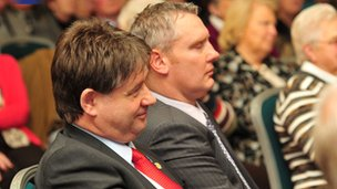Basil McCrea and John McCallister at the 2010 UUP annual conference