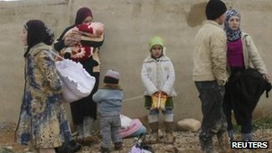 Syrian refugees in Lebanon 4 March 2012