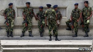 Sri Lankan soldiers (March 2012)
