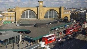 The front of King's Cross station