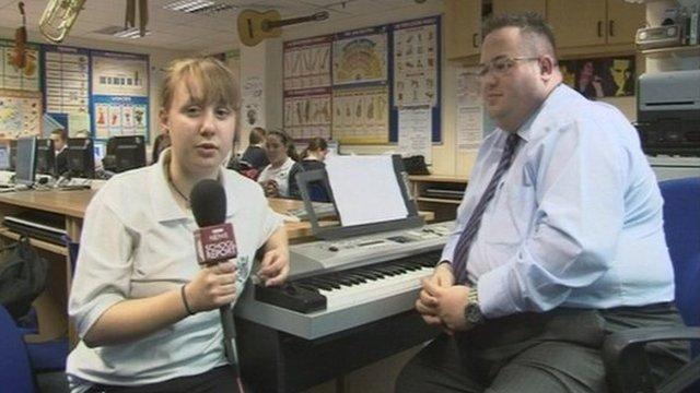School Reporter Georgia interviewing Mr Ritter