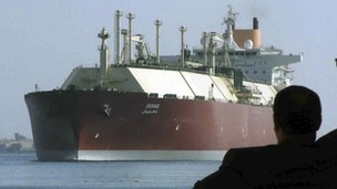 Tanker carrying liquid natural gas
