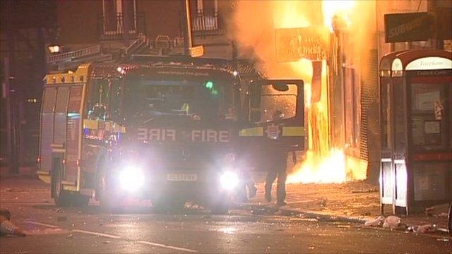 Riots in London - summer 2011