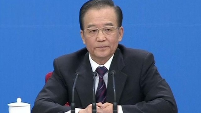 Premier Wen Jiabao making last address to NPC