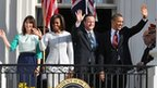 The Obamas and Camerons at the White House