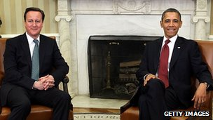 David Cameron and Barack Obama in The White House