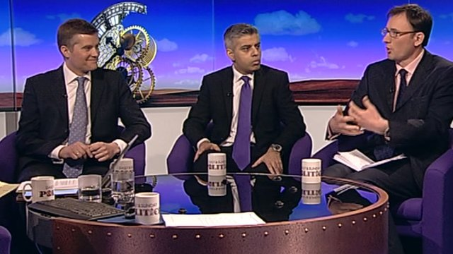 Mark Harper, Sadiq Khan and James Landale