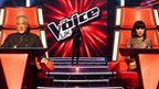 The Voice UK coaches on set