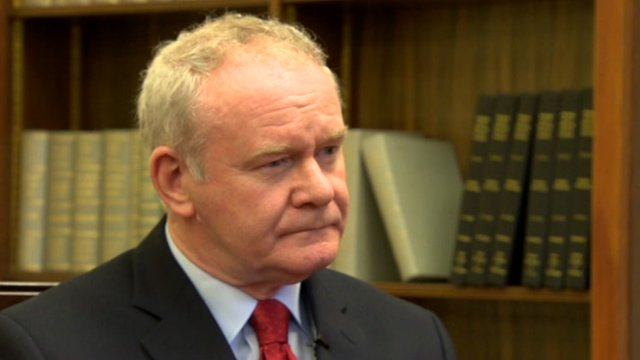 School Reporters from Northern Ireland quiz Deputy First Minister Martin McGuinness