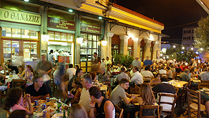 Athens pavement restaurants