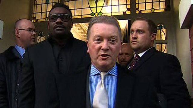 Frank Warren and Dereck Chisora