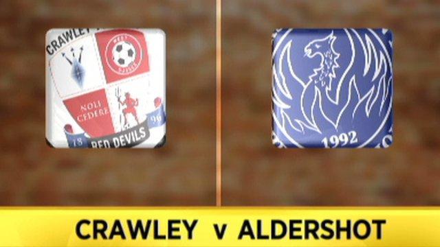 Crawley 2-2 Aldershot