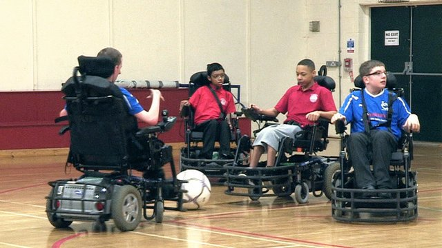 Wheelchair footballers