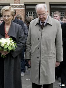 Queen Paola and King Albert II of Belgium (14 March 2012)