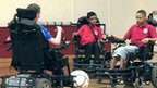 Pupils from New Bridge School and The Radclyffe School play wheelchair football