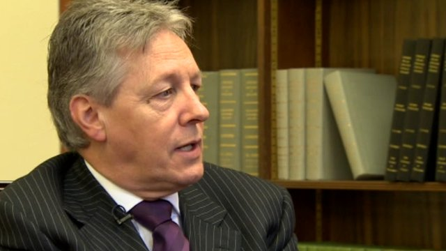 School Reporters from Northern Ireland question First Minister Peter Robinson