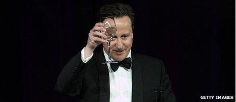 David Cameron proposes a toast